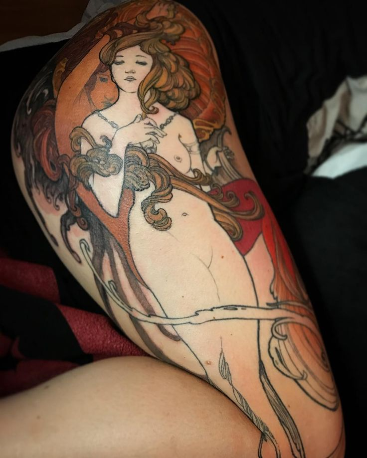 Alphonse Mucha mermaids. Jeff Gogue / insta: gogueart