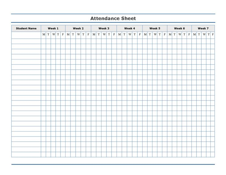 Free Printable Attendance Sheet Templates Record Blank \u2013 ffshop