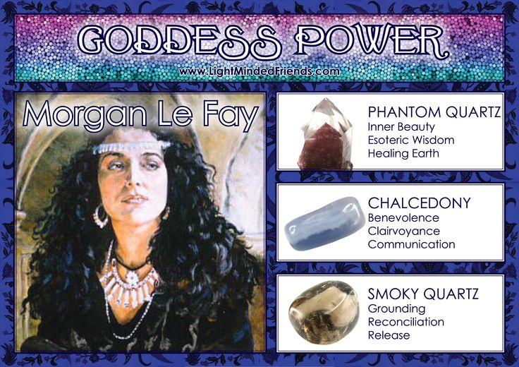 Goddess Power: Morgan Le Fay - Stones: Phantom Quartz, Chalcedony and Smoky Quartz