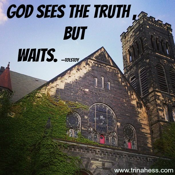 #Tolstoy #quotes God sees the truth but waits | Photo ...