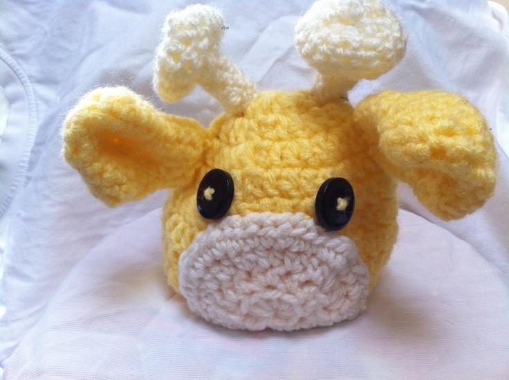 Crochet Baby Giraffe Beanie Hat