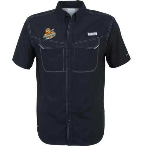 Columbia Sportswear Men's Southeastern Louisiana University Low Drag Offshore Short Sleeve Shirt (Black, Size