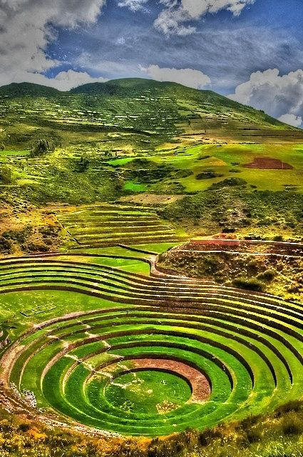 Maths - growing patterns. Sacred Valley of the Incas, Peru