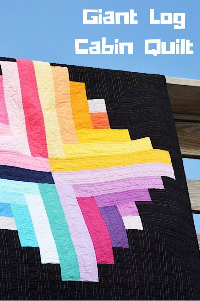 Modern Log Cabin Quilt – Riley Blake Designs