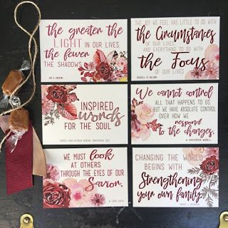 The visiting teaching gift we've created for you this month is really special.  We have chosen five great quotes from the October session o...