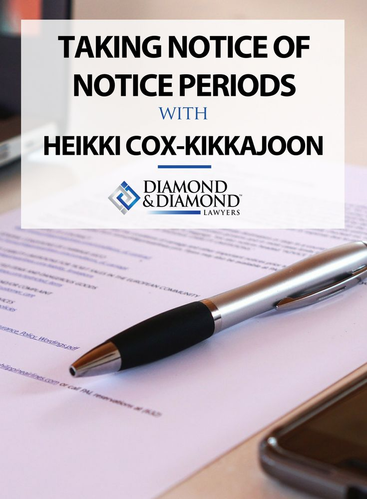 When you sustain injuries, you may be obligated to notify the responsible party of your intention to sue them for compensation. Giving notice to another party alerts them to the fact that you've been injured, and intend to hold them responsible. Notice periods are often very short. Read more about taking notice of notice periods here and why it's so important.   Diamond & Diamond