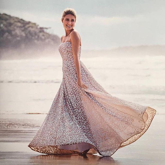 Divine @magdalena_roze wearing SS15 Kolby Gown Ivory #rachelgilbert #bridal @bridetobemagazine