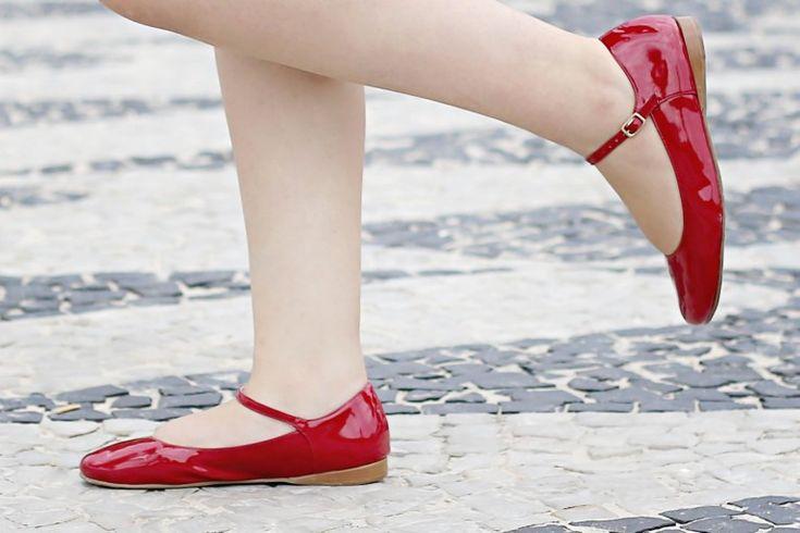 Sapatilha Vermelha da Tutu Sapatilhas. #sapato