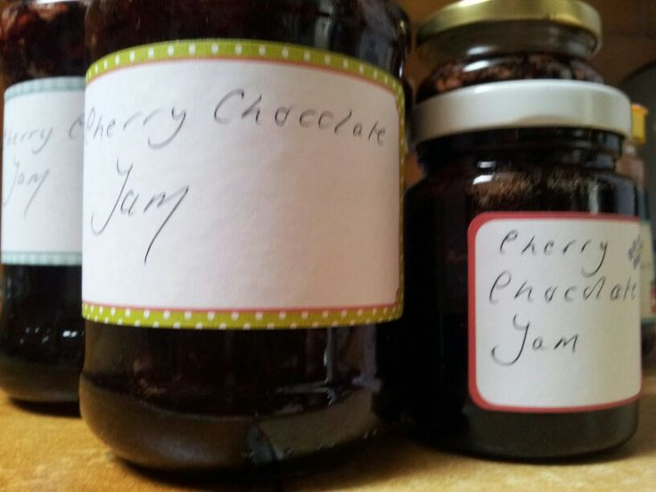 My cherry chocolate jam - very very Jammy