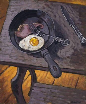 Paul Simonon, Egg, Bacon, Frying Pan, 2002. Oil on canvas.