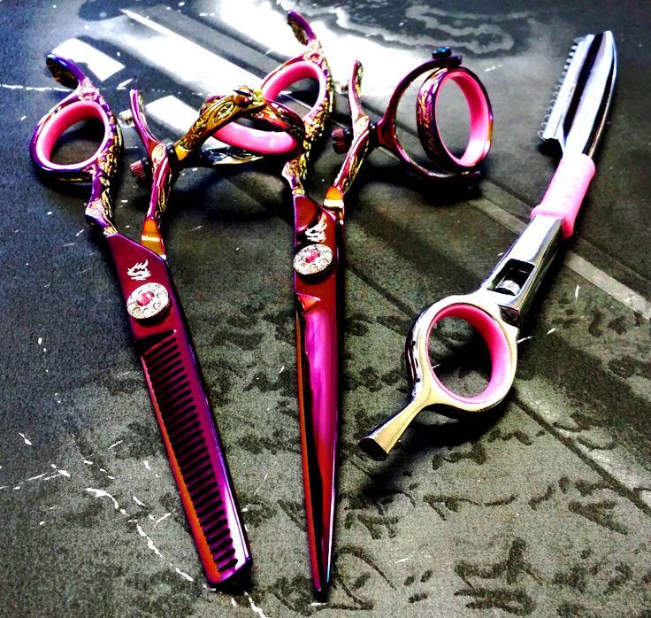 KAMISORI Jewel Double Swivel Professional Hair Shears Set
