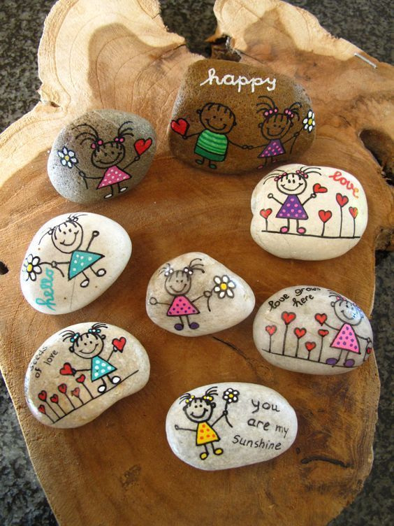 55 Awesome Cute Rock Painting Design-Ideen