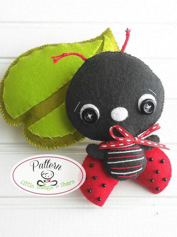 Ladybug PDF sewing pattern-DIY-Nursery by LittleThingsToShare