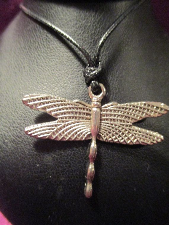 Dragonfly Pendant on Adjustable Cord by ChocolateMountain on Etsy