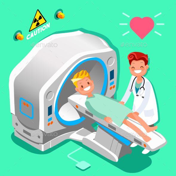 Hospital Doctor Cartoon Isometric People Vector