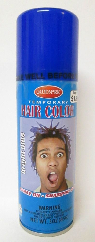 goodmark bright blue temporary hair color 3 oz spray on shampoo out cobalt goodmark - Spray Colorant Cheveux Temporaire