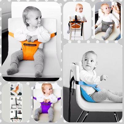 Pratico seggiolone da viaggio Minichair di Minimonkey. Ci sono arrivati i nuovi colori: arancione, celeste, viola e grigio!!