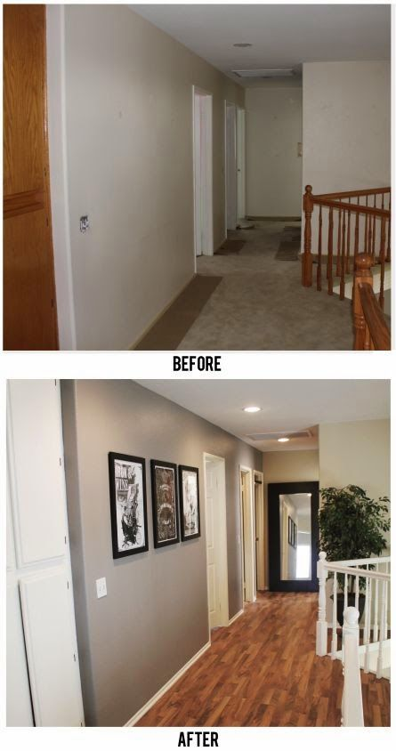 Michelle - Blog #Before & #After - #Hallway Fonte : https://trumanity.wordpress.com/2012/02/06/before-after-hallway/