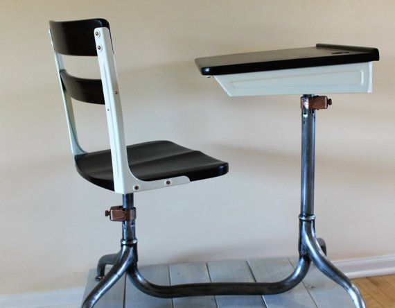 vintage school desk chair combo american seating company 1930 39 s