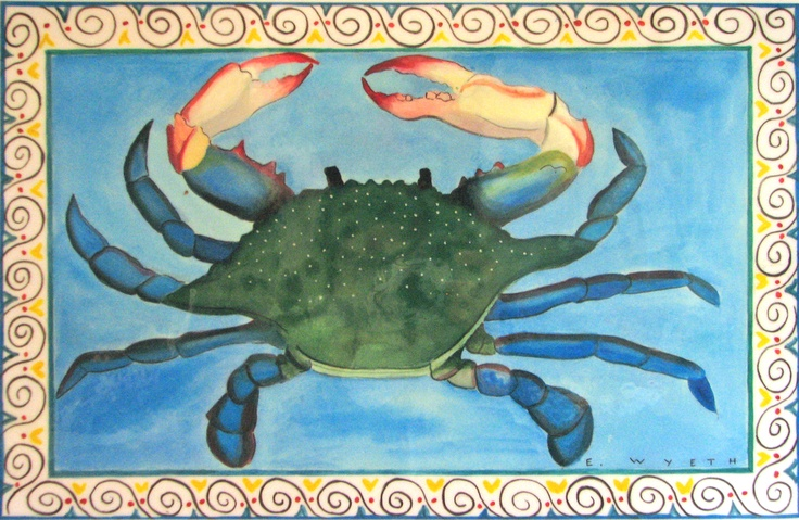 "Place mat by Ellie Wyeth - ""Blue Crab"""