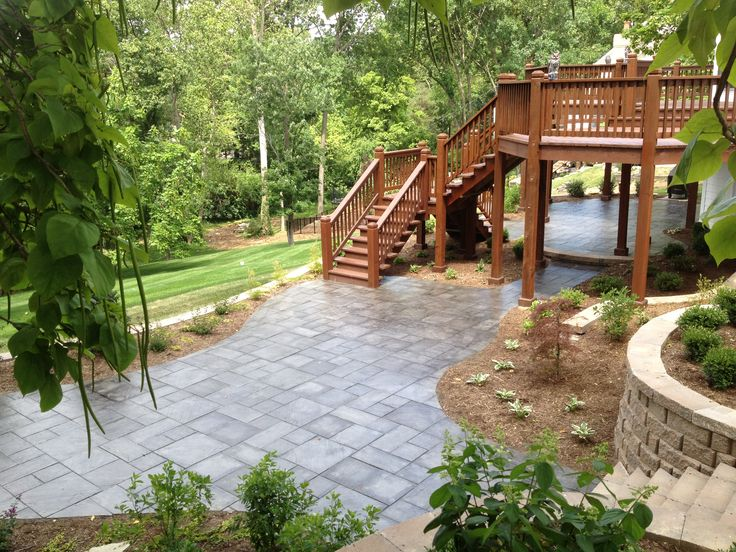 Love the combination deck patio thing patio and deck for Deck ideas pinterest