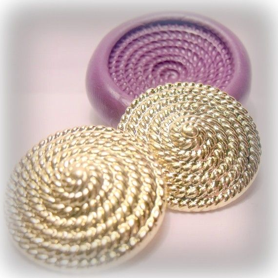 large art deco spiral circle silicone rubber mold by moldsrus, $5.95