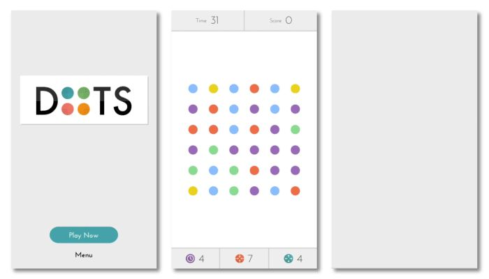 Dots - Animations  Dots carries through a very relaxing inertia which is prevalent through all aspects of the Ui.  Again making it definable against other apps.