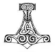 """Thor's Hammer (Mjolnir) This Mjolnir, or Thor's Hammer, is an ancient Norse symbol, a stylized representation of the legendary magical weapon of the Norse God Thor. """"Mjolnir"""" means """"lightning,"""" and symbolized the God's power over Thunder and Lightning. The Hammer Mjolnir was said to always return after it had been thrown.  The Thor's Hammer amulet was worn frequently by believers as a symbol of protection- a practice so popular it continued even after most of the Norse population had…"""