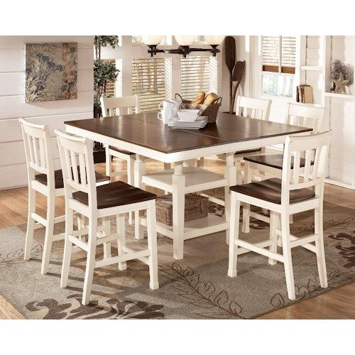 Ashley Signature Design Whitesburg 7-Piece Counter Extension Table Set