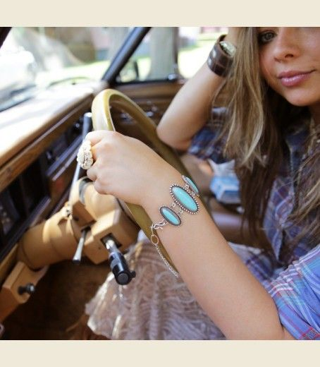 THE MOJAVE TURQUOISE BRACELET - Junk GYpSy co.
