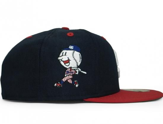 Tokyo Yakult Swallows 1974-1977 Navy-Red 59Fifty Fitted Baseball Cap by NEW ERA x NPB