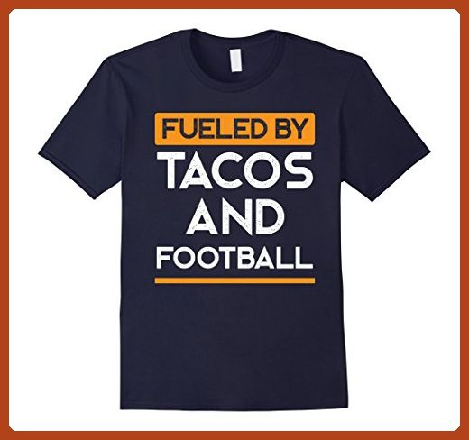 Mens Fueled by Tacos and Football Funny Sports Tee XL Navy - Sports shirts (*Partner-Link)