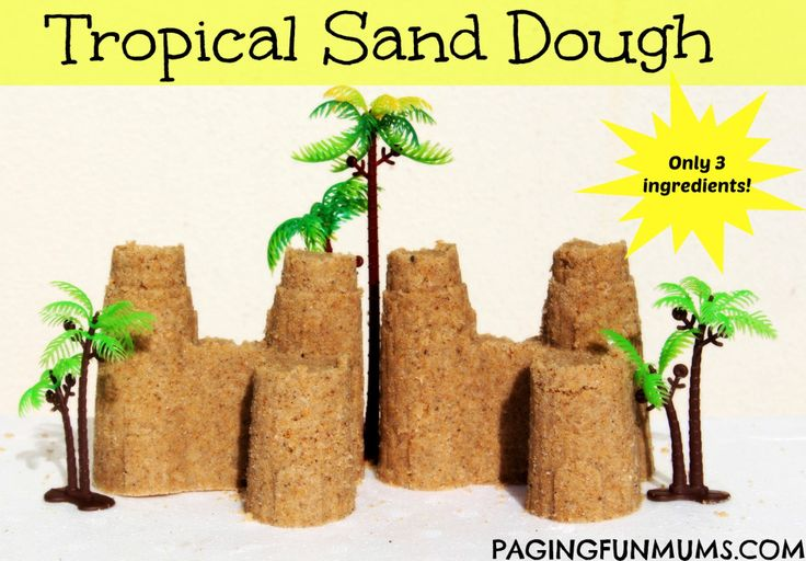 Tropical Sand Dough! A great way to create the beach at home!