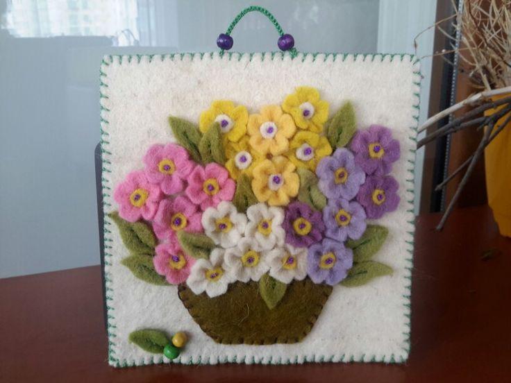 Felt flowers-Sümbül Eldek