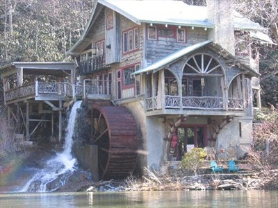 Lake Sequoyah Water Mill - Highlands, NC - Water Mills on Waymarking.com --- I have canoed past this since I was a kid.