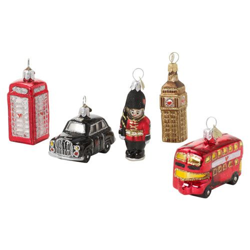 Christmas Tree Ornaments From the British Museum: London Icons Blown Glass Christmas Ornaments