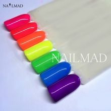 6 cores Neon Em Pó Pigmento Pigmentos Pigmentos Neon Gradiente Prego Neon Em Pó Gradiente Ombre Poeira alishoppbrasil