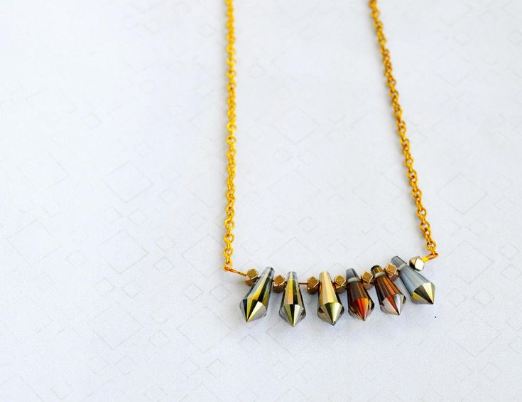 Iridescent Beaded Necklace