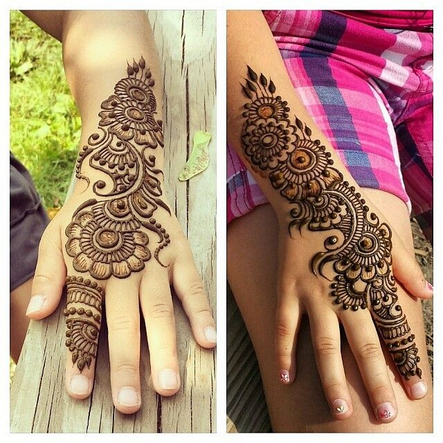 """""""#henna for some of the cutest kids at a summer camp a month or so ago. Ahh.. suffering from some serious summer withdrawl.  #hennapro #torontoartist…"""""""