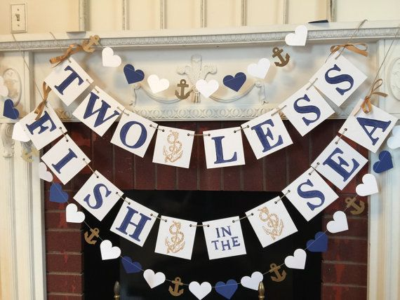 Two Less Fish in the Sea Banner  Nautical by anyoccasionbanners