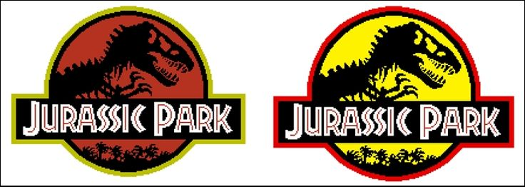 Hello, I just wanted to share a chart I just made for the Jurassic park logo. It's based on the 1993 Nes game (Ocean), because that's the year my favourite Jurassic Park movie came out!…