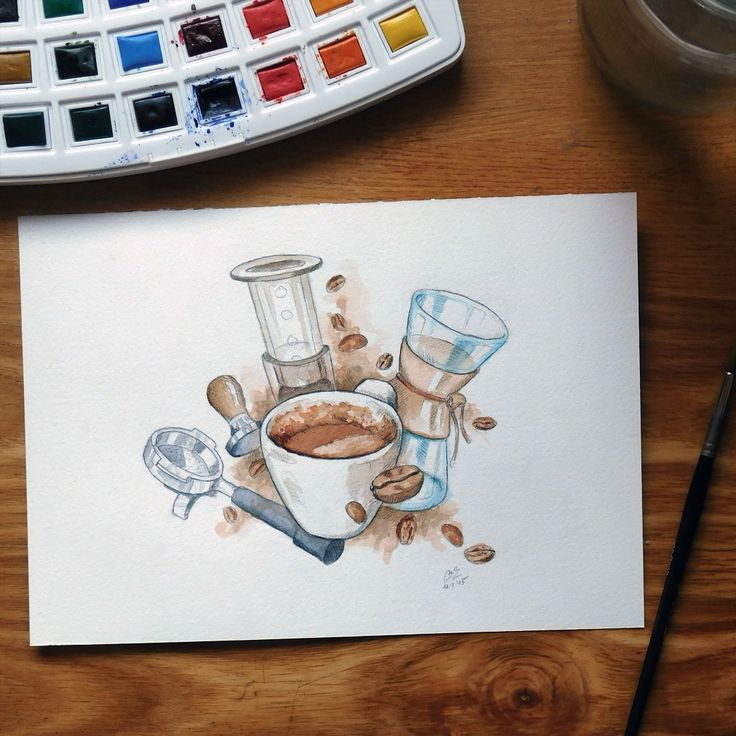 """Illustration ""Barista"" ☕ #illustration #drawing #watercolor #art #waterblog #dailyarts #_tebo_  #instaartexplorer #rtistic_feature #BLVART #art_realism…"""