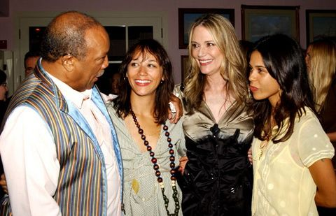 Quincy Jones, Rashida Jones, Peggy Lipton and Kidada Jones