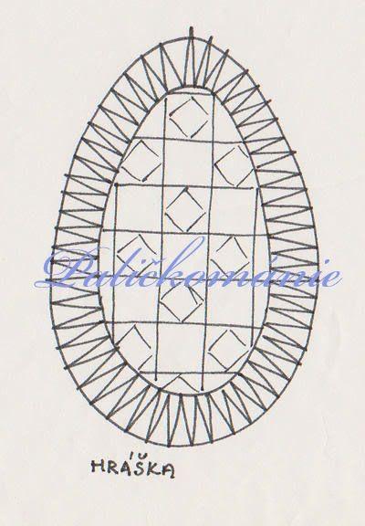 Paličkománie: Paličkované vajíčko s hráškou