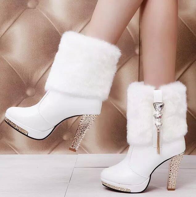 Ucuz Yeni Kadın Boots Tasarımcı Moda Platformu Tıknaz Yüksek Topuklu Kadınlar 2016 Sonbahar Kış Ayakkabı Martin çizmeler ücretsiz kargo C199, Satın Kalite bayan botları doğrudan Çin Tedarikçilerden: