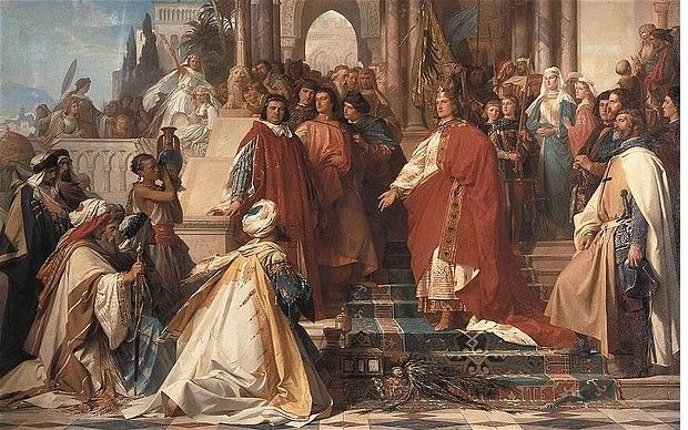 The Court of Holy Roman Emperor Frederick II in Palermo by Arthur Georg von Ramberg