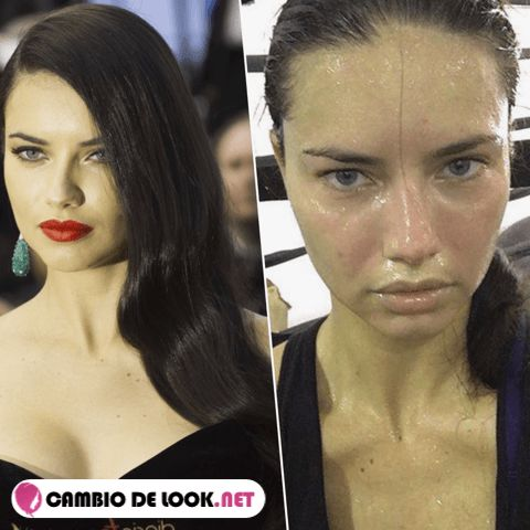 Adriana Lima sin nada de maquillaje -