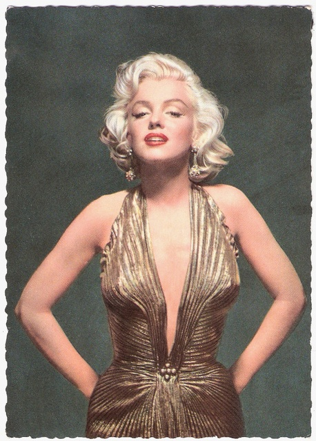 Marilyn Monroe, Photoplay Magazine Awards, in gold lame gown by Travilla, 1953
