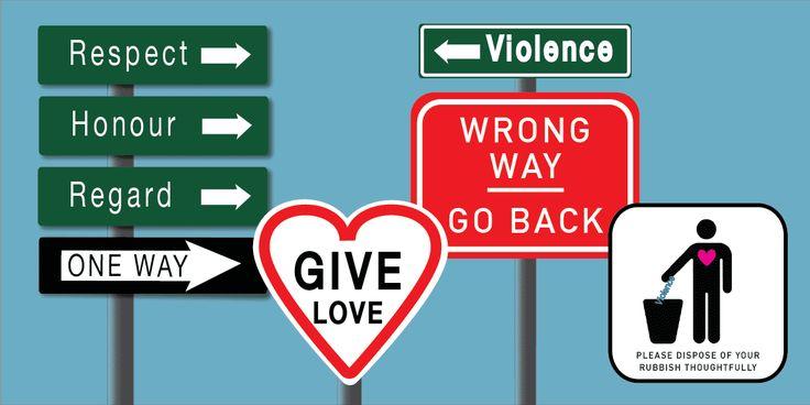 Future Friendly Design: Anti-violence postcard designs