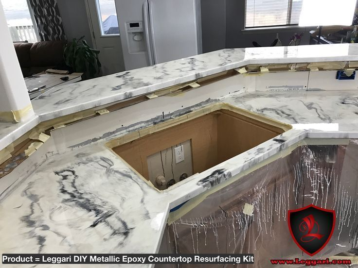 Diy Metallic Epoxy Countertop Resurfacing Kit Was Placed
